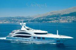 Luxusyacht Andreas L für 350.000 Euro pro Woche