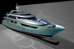 Sanlorenzo 44 Steel - Superyacht in grün